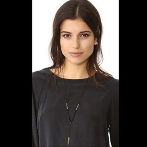 Gorjana adjustable gold bead necklace